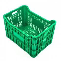 Cubeta apilable plástico verde 581x410x365 mm Ref.JC