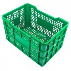 Cubeta apilable plástico verde 730x500x410 mm Ref. Ref.FC
