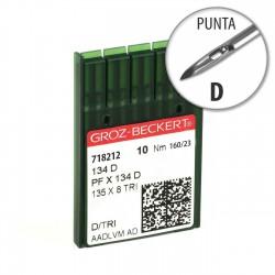 Aguja Groz-Beckert 134 160/23 Punta D - Pack 10 uds