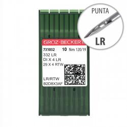 Aguja Groz-Beckert 332 120/19 Punta LR - Pack 10 uds