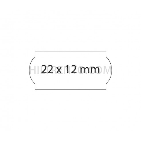 Etiquetas 22x12 blancas permanente