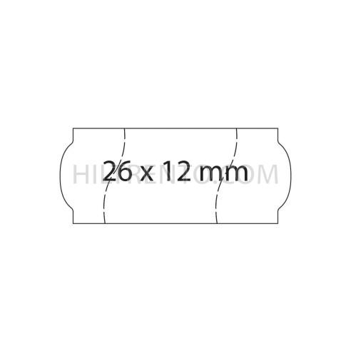 Etiquetas 26x12 blancas, corte seguridad, permanentes