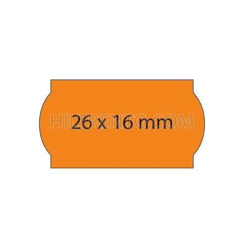 Etiquetas 26x12 naranja fluor, permanentes