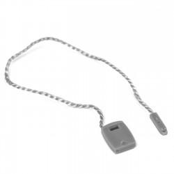 Marchamo plano gris plata - 1000 uds