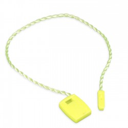 Marchamo plano amarillo fluor - 1000 uds