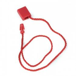 Marchamo plano rectangular rojo - 1000 uds