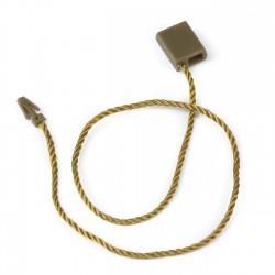 Marchamo plano rectangular dorado - 1000 uds