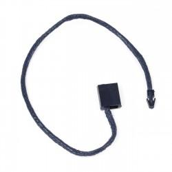Marchamo plano cuadrado hilo cuerda azul marino - 1000 uds