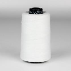 Hilo poliéster 100% fibra cortada 20/4 blanco, coser sacos - Bobina 1000 mts