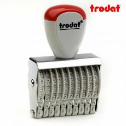 Sello numerador manual 3 mm 10 dígitos Trodat classic 15310
