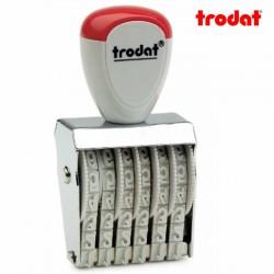 Sello numerador manual 5 mm 6 dígitos Trodat classic 1556