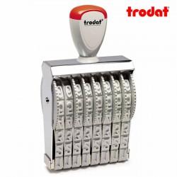 Sello numerador manual 12 mm 8 dígitos Trodat classic 15128