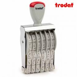 Sello numerador manual 15 mm 6 dígitos Trodat classic 15156