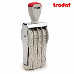 Sello numerador manual 18 mm 4 dígitos Trodat classic 15184
