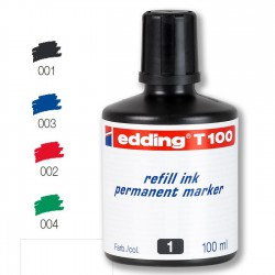 Tinta Eddding T100 Negro 100 ml