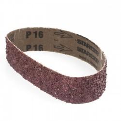 Banda de lija roja tela rígida 435x20 mm grano 24 - pack 10 uds