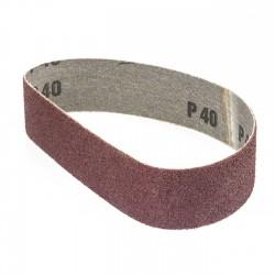 Banda de lija roja tela rígida 435x35 mm grano 40 - x10 uds