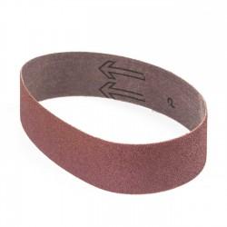 Banda de lija roja tela rígida 435x35 mm grano 60 - x10 uds
