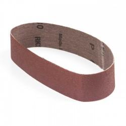 Banda de lija roja tela rígida 435x35 mm grano 80 - x10 uds
