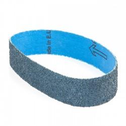Banda de lija roja tela azul 435x35 mm grano 24 - x10 uds