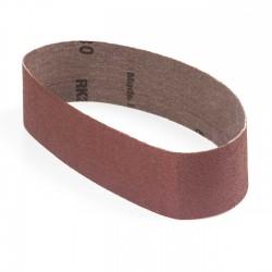 Banda de lija tela roja 471x50 mm grano 80 - Pack 10 uds