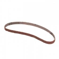 Banda de lija tela roja 435x10 mm grano 24 - Pack 10 uds