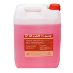 Gel de manos industrial rosa PH neutro - Bidón 10 Litros