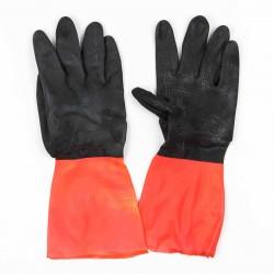 Guantes bicolor menaje rojo y negro igartex