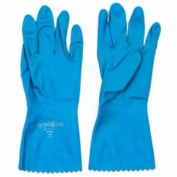 Guantes látex flockado en algodón Polyco Optima azul