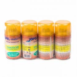 Insecticida aerosol concentrado insectos voladores Jofel Matic PN - Pack 4 uds