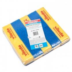 Pack 10 estropajos esponja azul 15x7 cm Vileda 0700