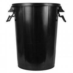 Cubo basura plastico negro grande 100 litros