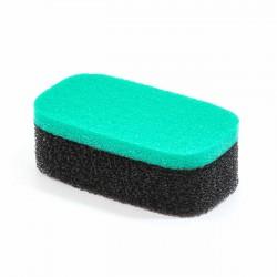 Esponja rizada bicolor verde-negro poro grande