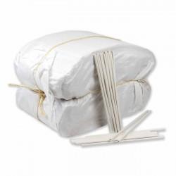 Palillo calzado plástico blanco 26 cm - Pack 20 kg