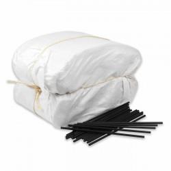 Palillo calzado plástico negro 28 cm - Pack 20 kg