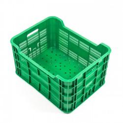 Cubeta apilable plástico verde 500x380x270 mm Ref.BC