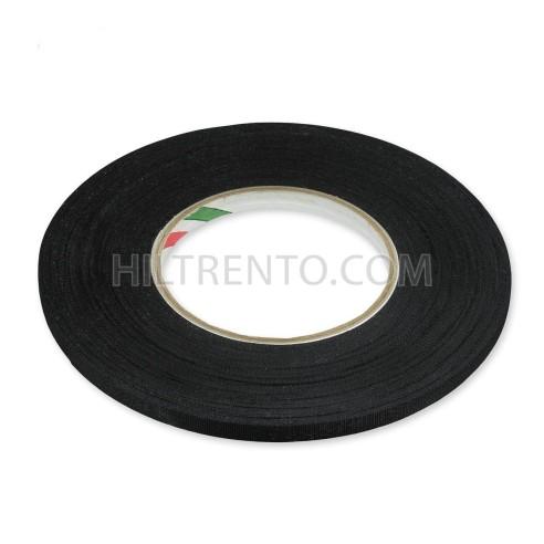 Cinta adhesiva rayón negra 10mm x 50 metros