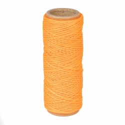 Hilo encerado nylon 1,0 mm - Col. naranja fluor x03 - Bobina 50 mts