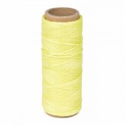Hilo encerado nylon 1,0 mm - Col. amarillo fluor x01 - Bobina 50 mts