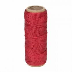 Hilo encerado nylon 1,0 mm - Col. rojo 028 - Bobina 50 mts