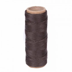 Hilo encerado nylon 1,0 mm - Col. marrón 222 - Bobina 50 mts
