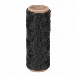 Hilo encerado nylon 1,0 mm - Col. negro 009 - Bobina 50 mts