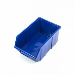 Cubeta apilable plastico azul mediana