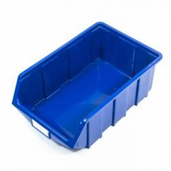 Cubeta apilable plastico azul grande