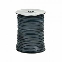 Cordón náutico cuero azul marino 3.5 mm - Carrete 50 mts