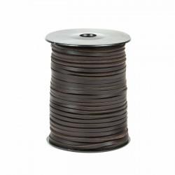 Cordón náutico cuero marrón 3.5 mm - Carrete 50 mts