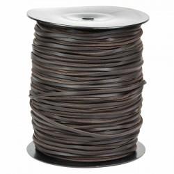 Cordón náutico cuero marrón 3.5 mm - Carrete 200 mts