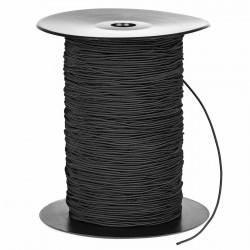 Cordón goma elástica para mascarillas Negro1,5 mm Nº 1 - Carrete 300 mts