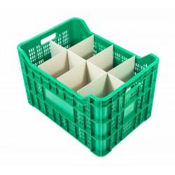 Cubeta apilable Ref.JC con separadores