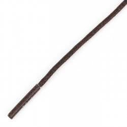 Cordón redondo encerado marrón 1.5 mm x 60 cm - CC9860